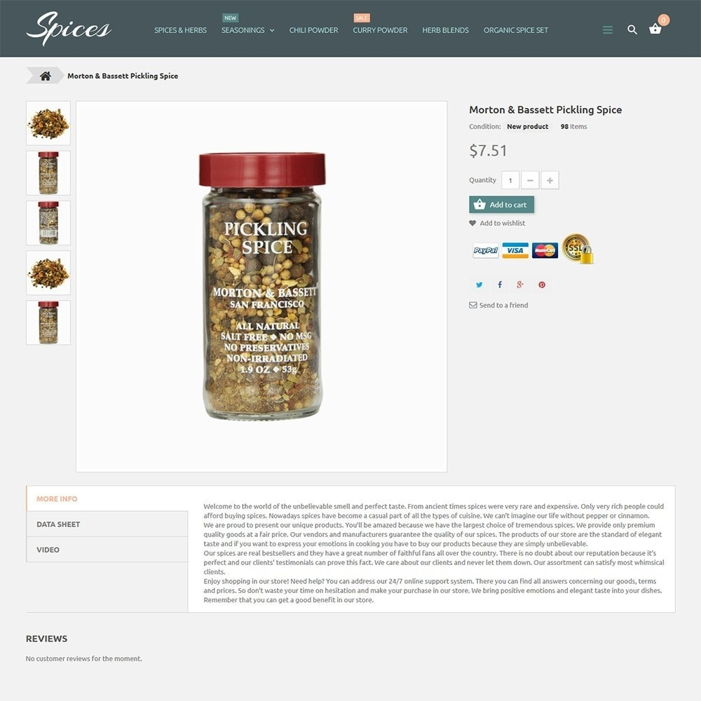 theme - Alimentation & Restauration - Spice Shop - 3