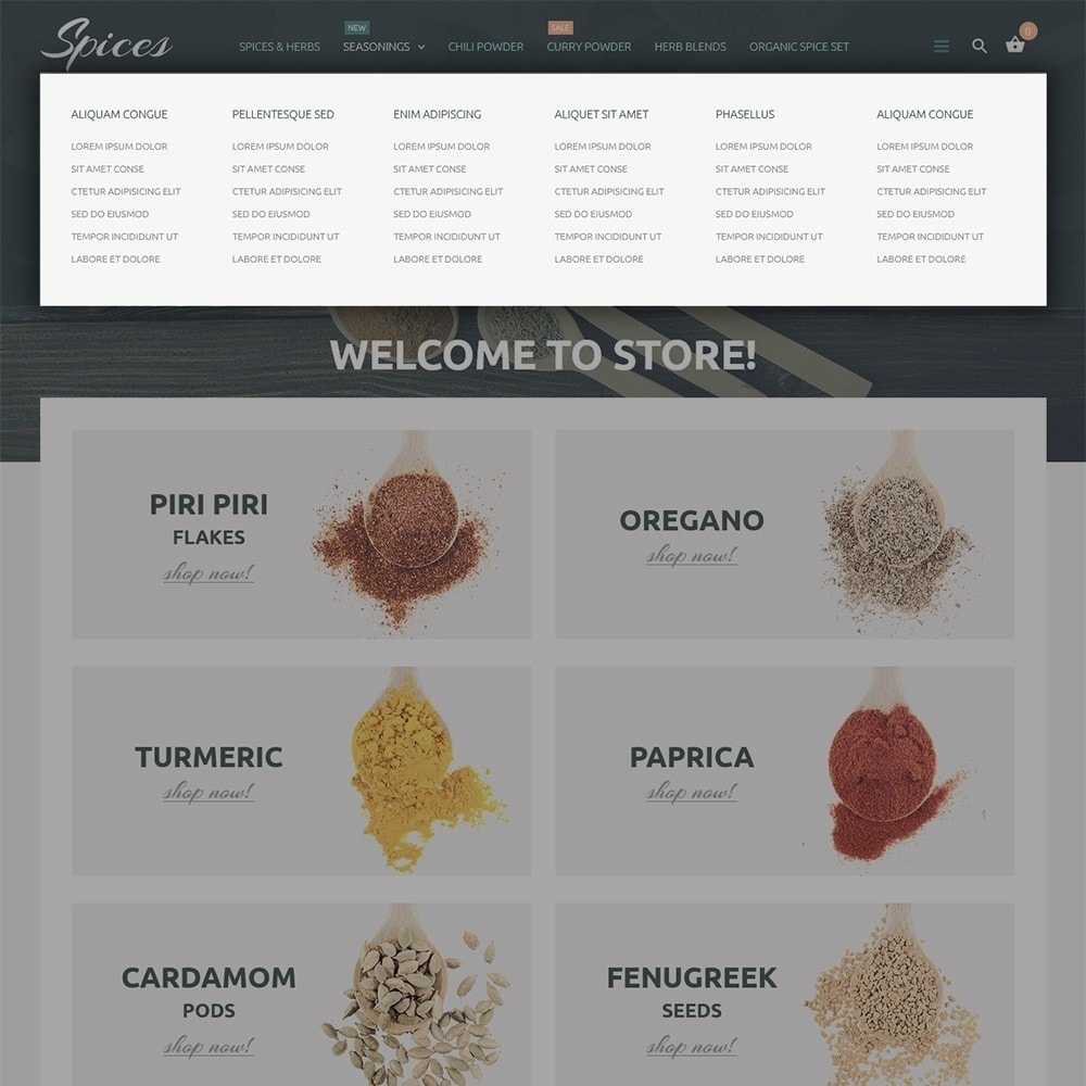 theme - Alimentation & Restauration - Spice Shop - 5