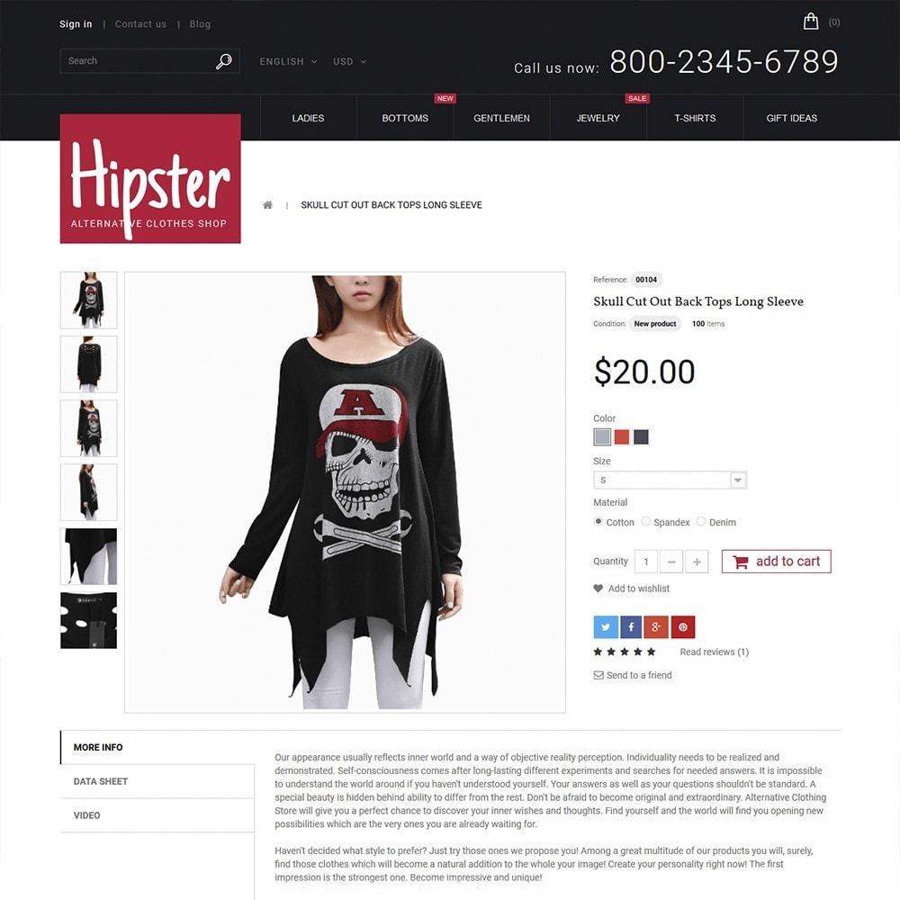 theme - Moda y Calzado - Hipster - Apparel Template - 4