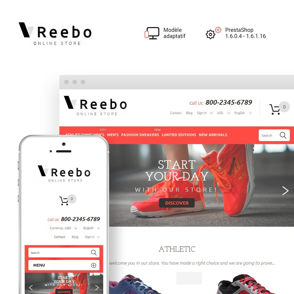 theme - Mode & Chaussures - Reebo - Shoe Store - 1