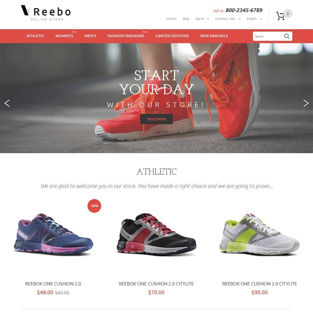 theme - Moda y Calzado - Reebo - Shoe Store - 2