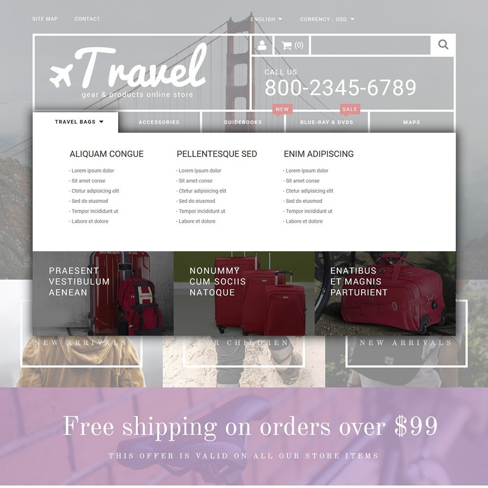 theme - Sport, Loisirs & Voyage - Travel - Gear & Product Online Store - 5
