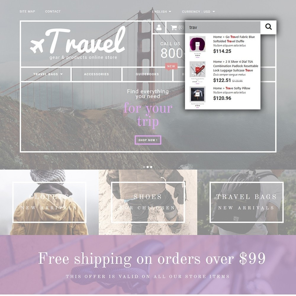 theme - Sport, Loisirs & Voyage - Travel - Gear & Product Online Store - 6