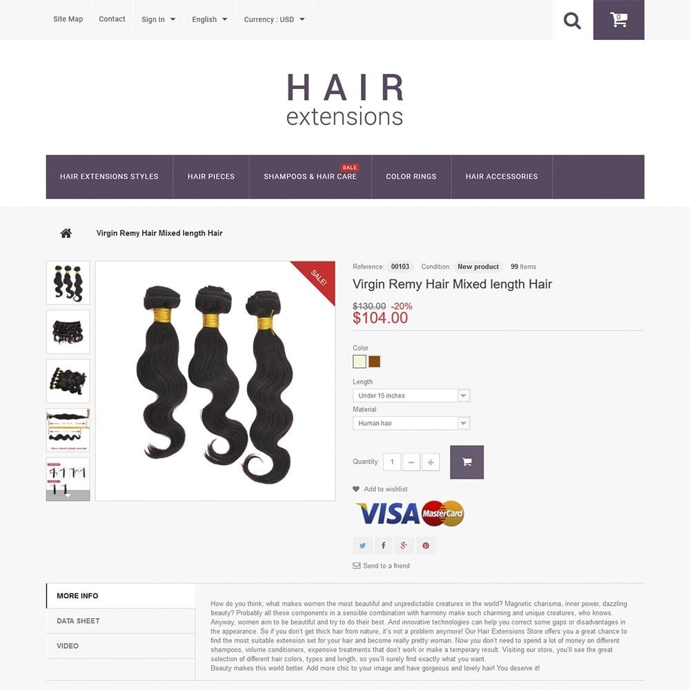 theme - Fashion & Shoes - Hair Extensions - 3