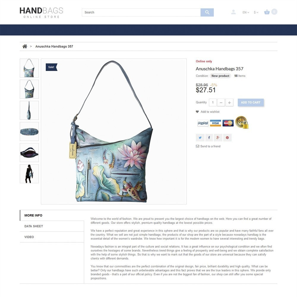 theme - Moda & Calzature - Handbag - 3