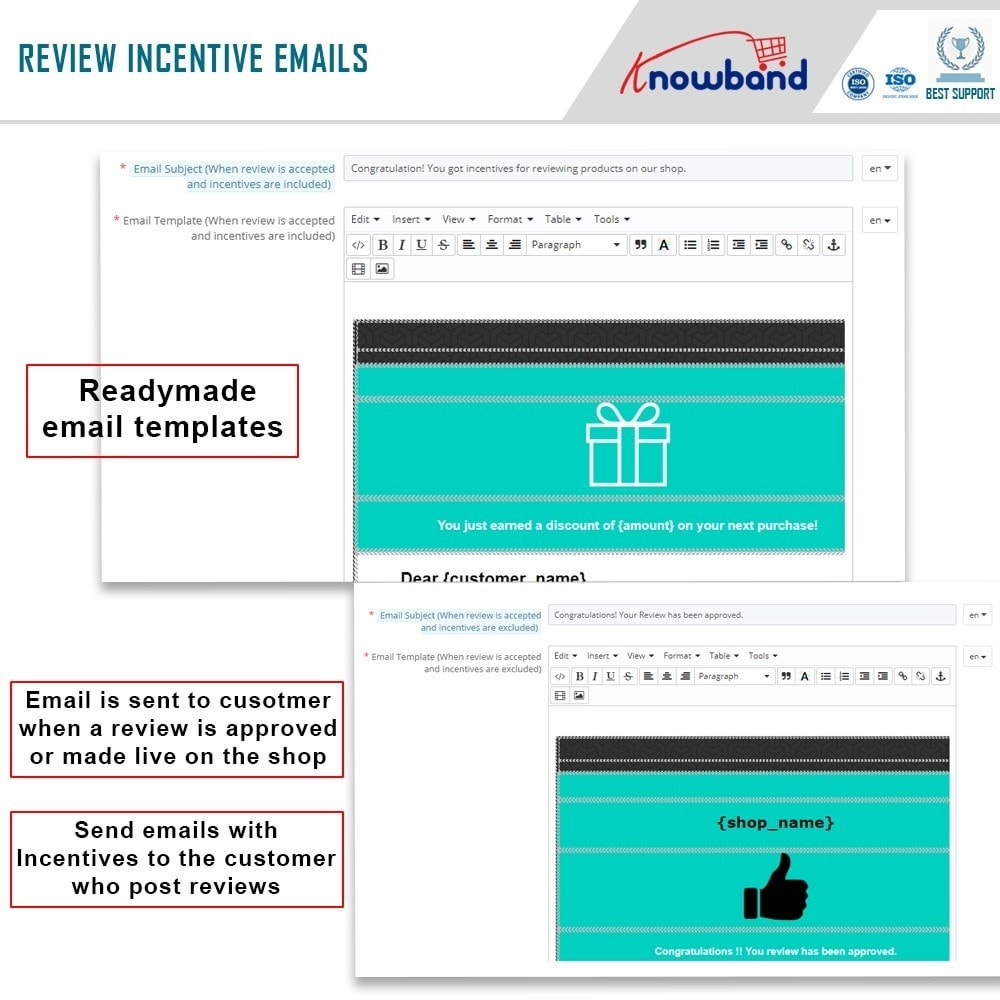 module - Customer Reviews - Knowband - Product Review Reminder and Incentives - 7