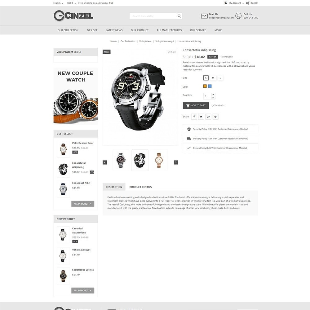 theme - Elektronika & High Tech - Cinzel Watch Store - 5