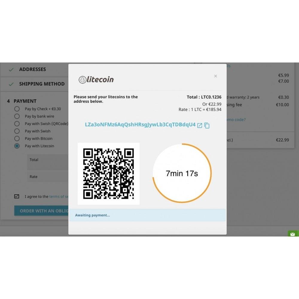 module - Otros métodos de pago - Litecoin - Accept litecoins directly into your wallet - 2