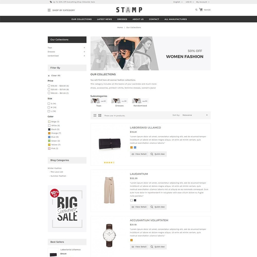 theme - Mode & Chaussures - Stamp Fashion Store - 5