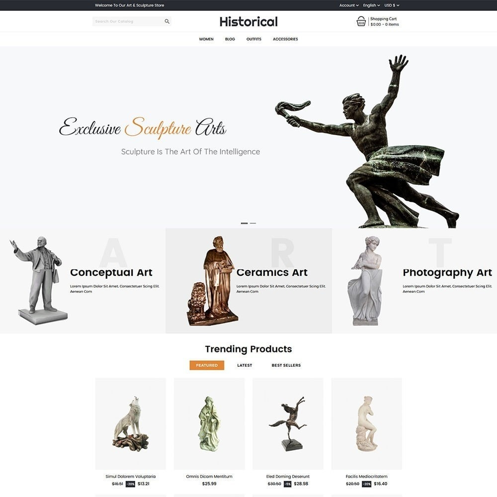 theme - Art & Culture - Historical Sculpture Store - 2