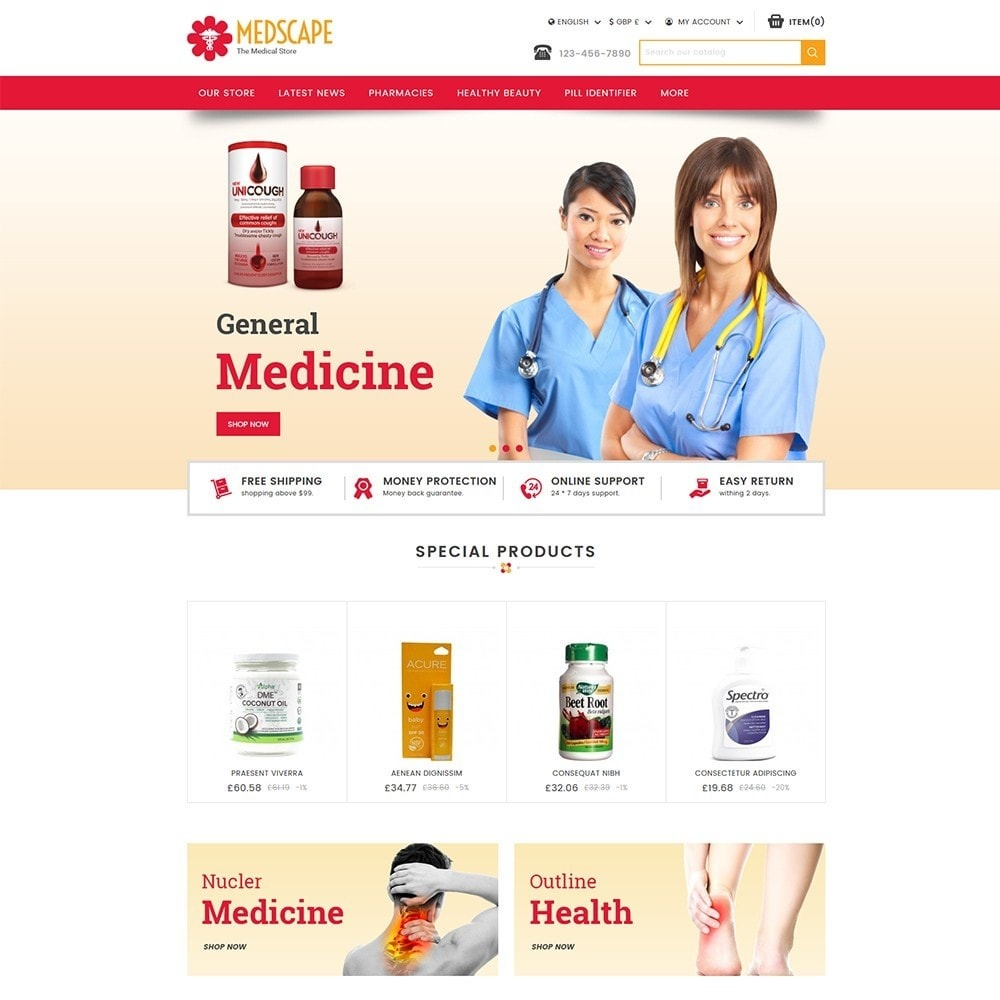 theme - Salute & Bellezza - Medscape Medical Store - 2