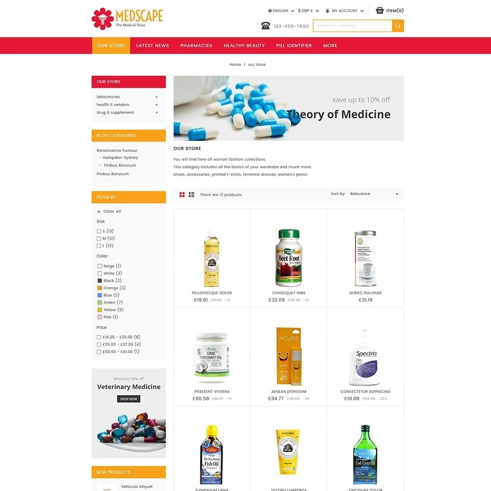 theme - Health & Beauty - Medscape Medical Store - 4