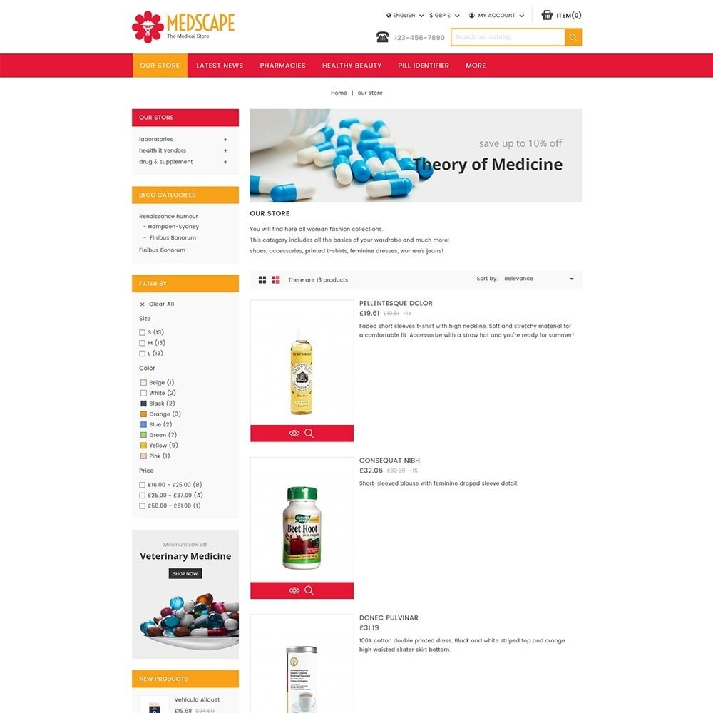 theme - Health & Beauty - Medscape Medical Store - 5