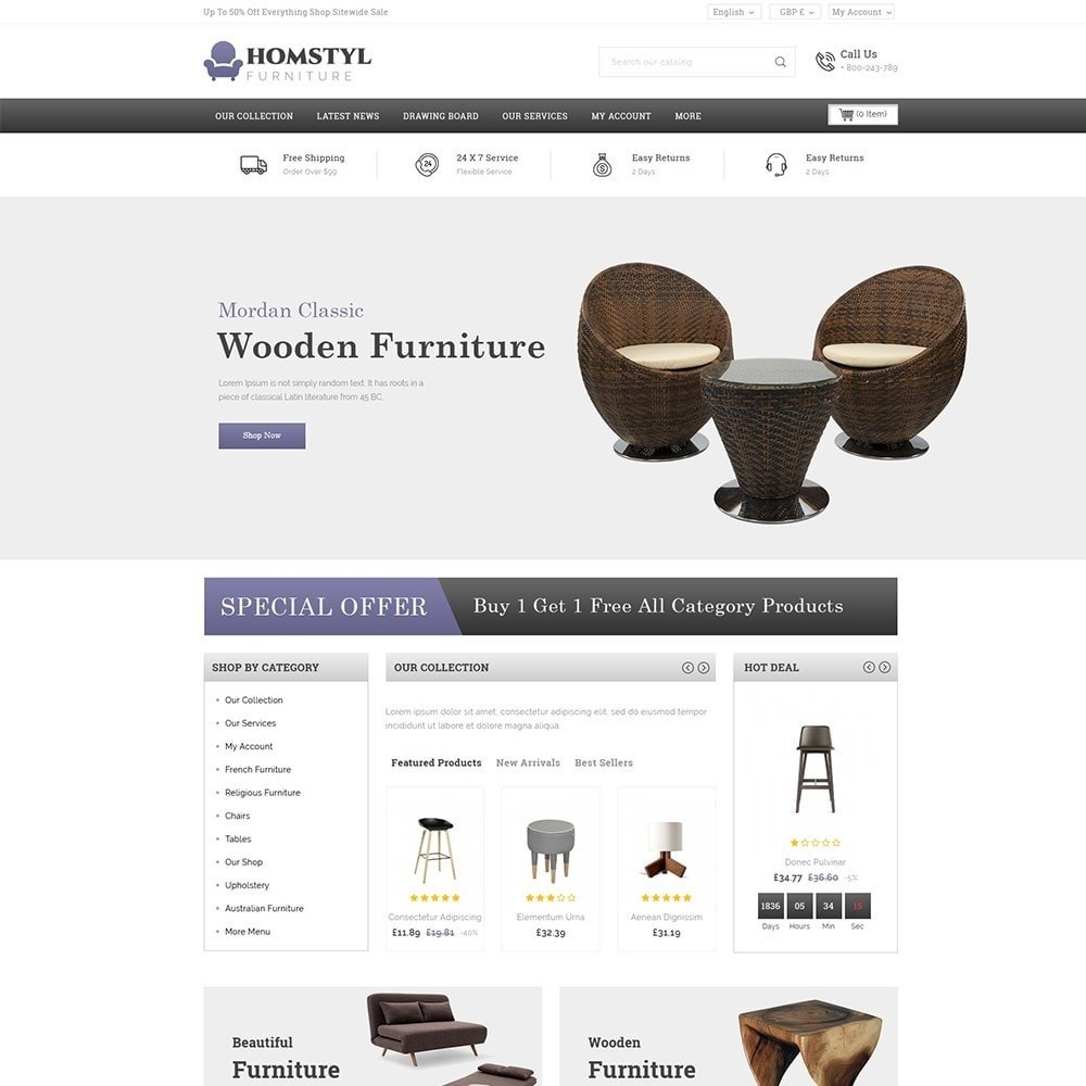theme - Home & Garden - Homstyl Furniture Store - 2