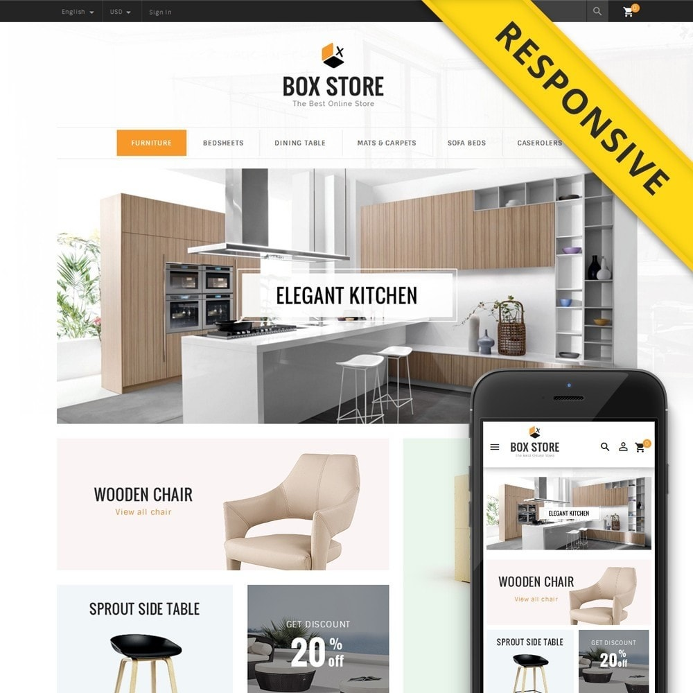 theme - Maison & Jardin - BoxStore - Furniture Store - 1