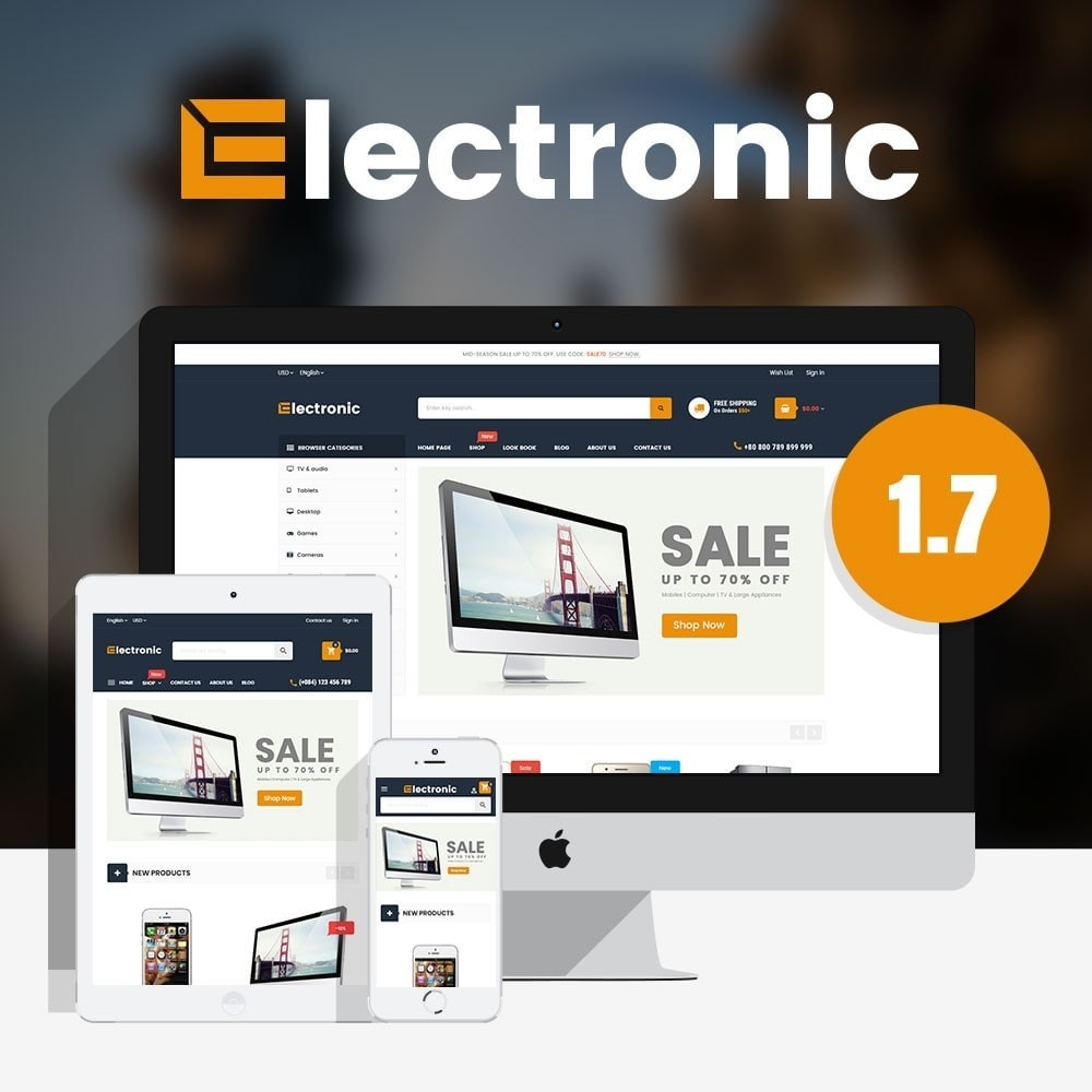 theme - Electrónica e High Tech - Supermarket Online Store - 1