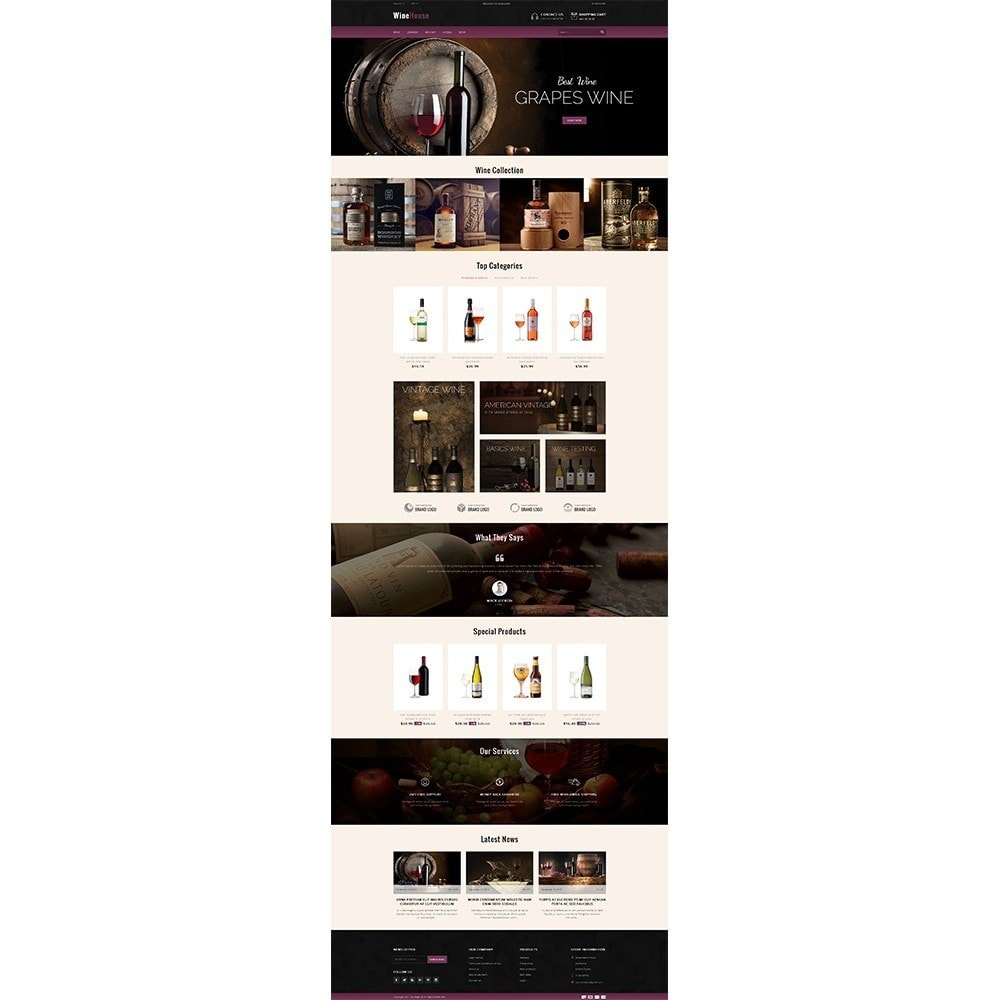theme - Drink & Wine - WineHouse store - 2