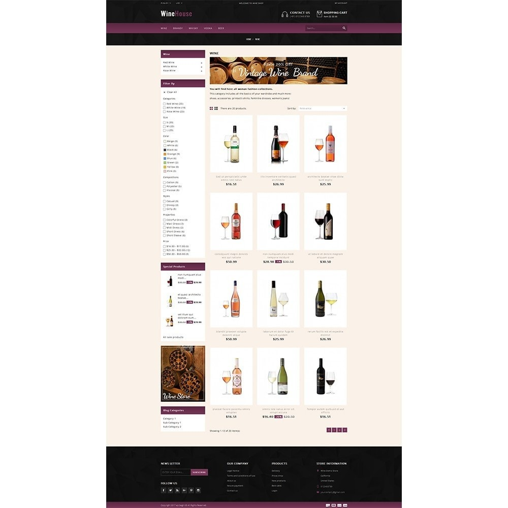 theme - Drink & Wine - WineHouse store - 3