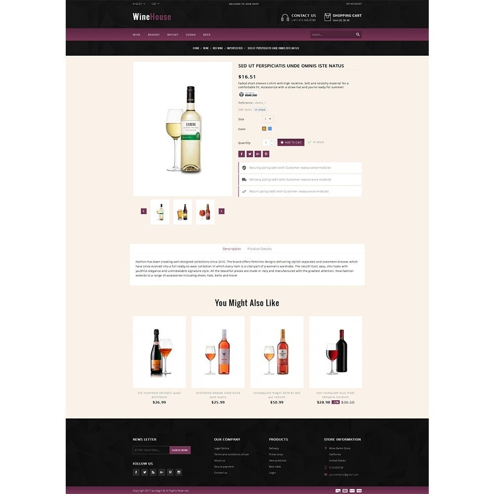 theme - Drink & Wine - WineHouse store - 5