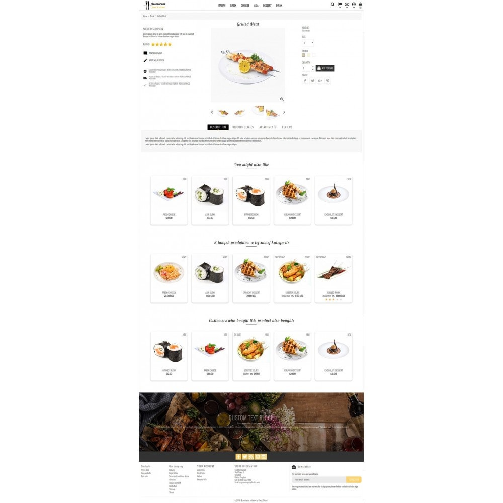 theme - Alimentation & Restauration - Restaurant Food - 3