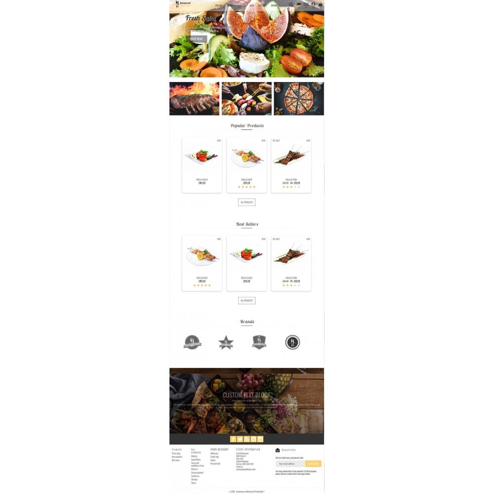 theme - Alimentation & Restauration - Restaurant Food - 5