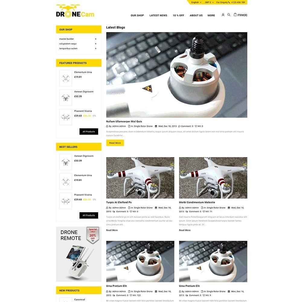 theme - Elettronica & High Tech - DroneCam Camera Store - 6