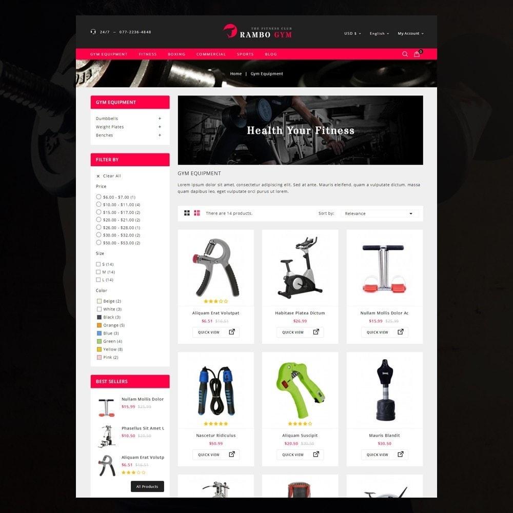 theme - Здоровье и красота - Rambo Gym - Fitness - 3