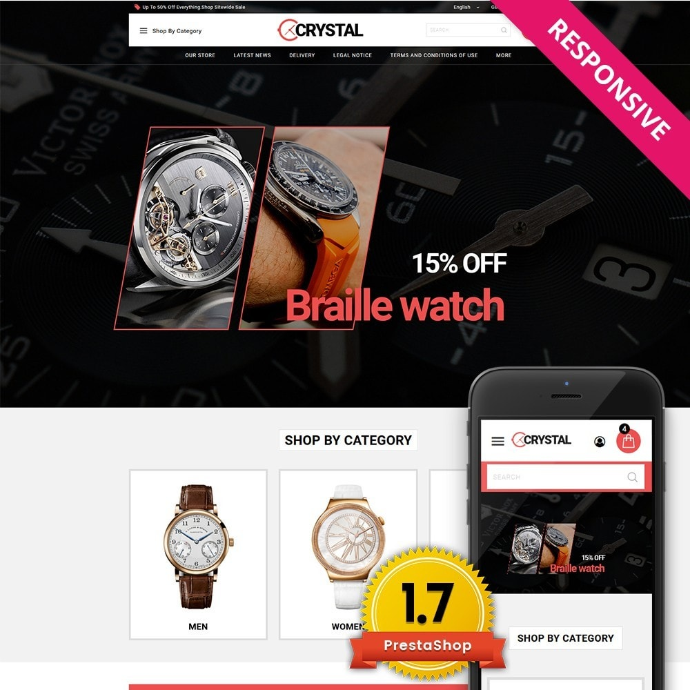 theme - Elektronika & High Tech - Crystal Watch Store - 1