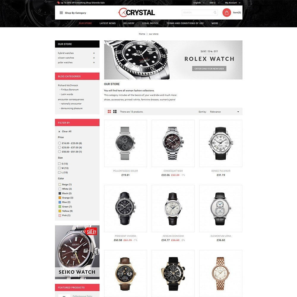 theme - Elektronika & High Tech - Crystal Watch Store - 4