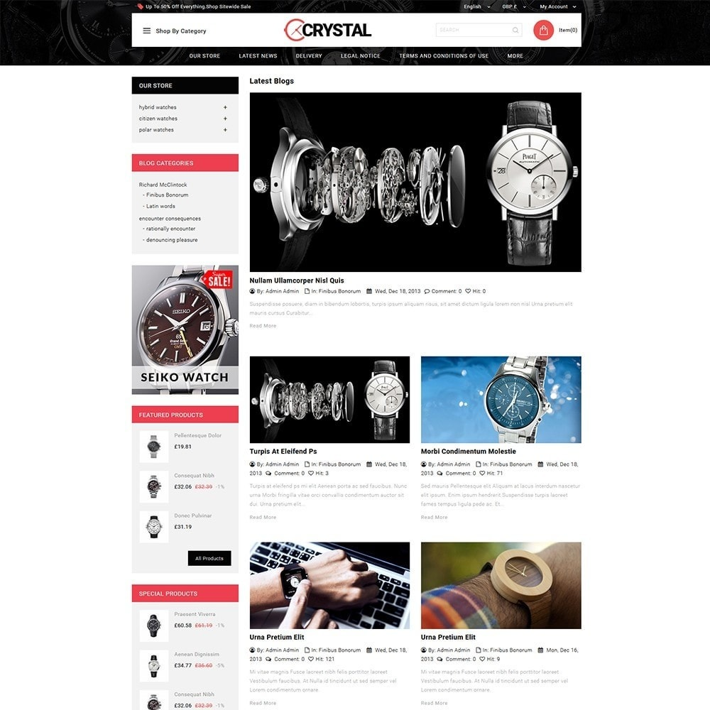 theme - Elettronica & High Tech - Crystal Watch Store - 7