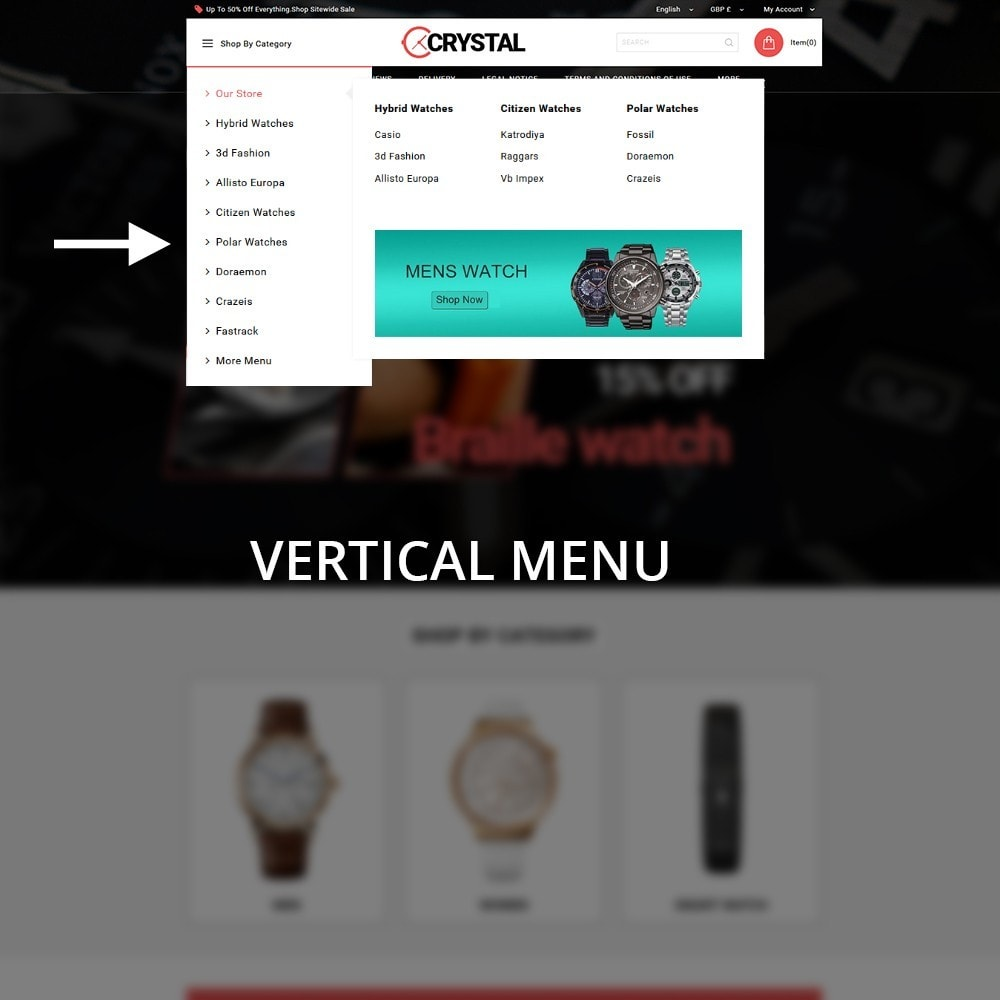 theme - Elektronika & High Tech - Crystal Watch Store - 9
