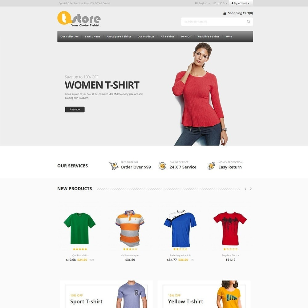 theme - Moda y Calzado - TStore Fashion Shop - 2