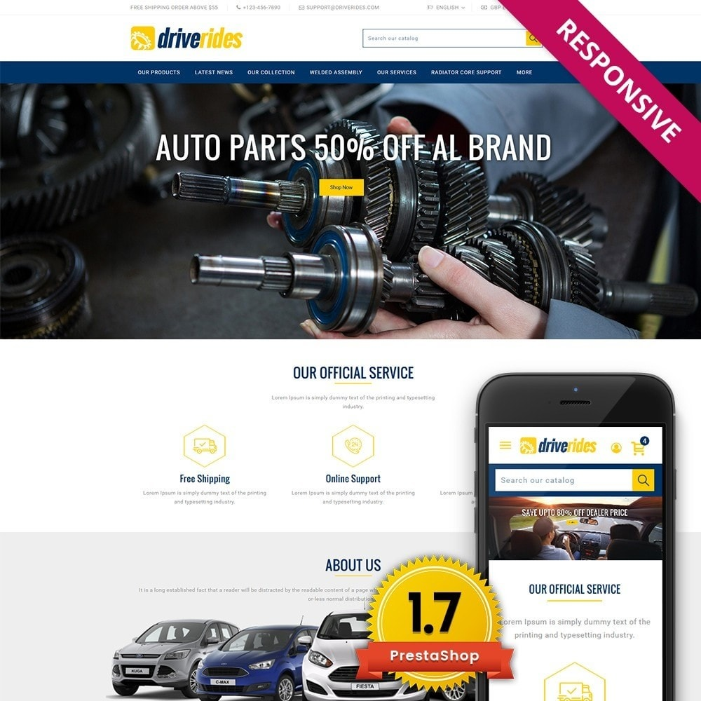 theme - Automotive & Cars - Driverides Motor Shop - 1