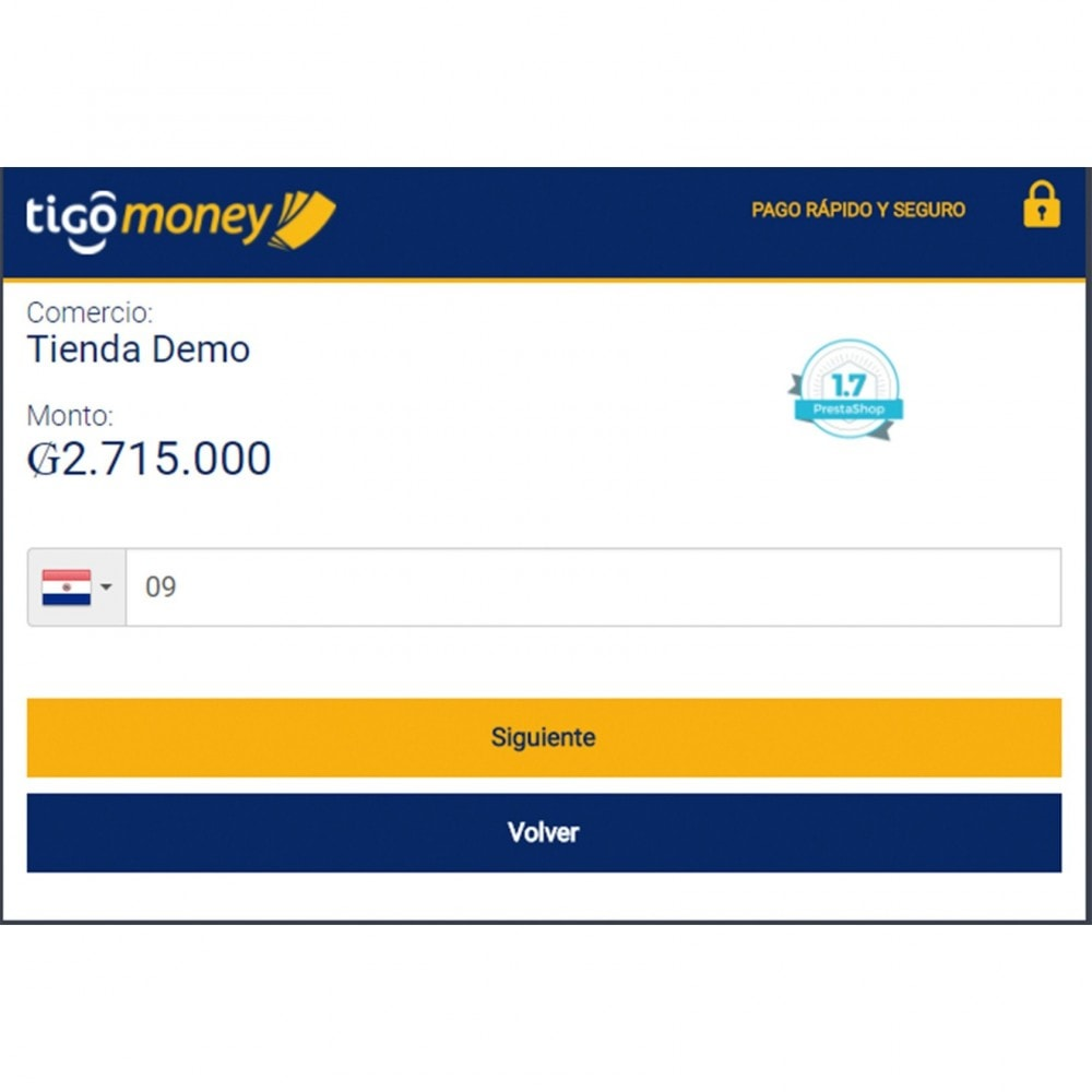 module - Payment by Card or Wallet - Tigo Money Paraguay - 4
