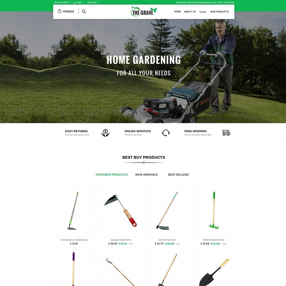theme - Casa & Jardins - The Grave Gardening Tools - 3