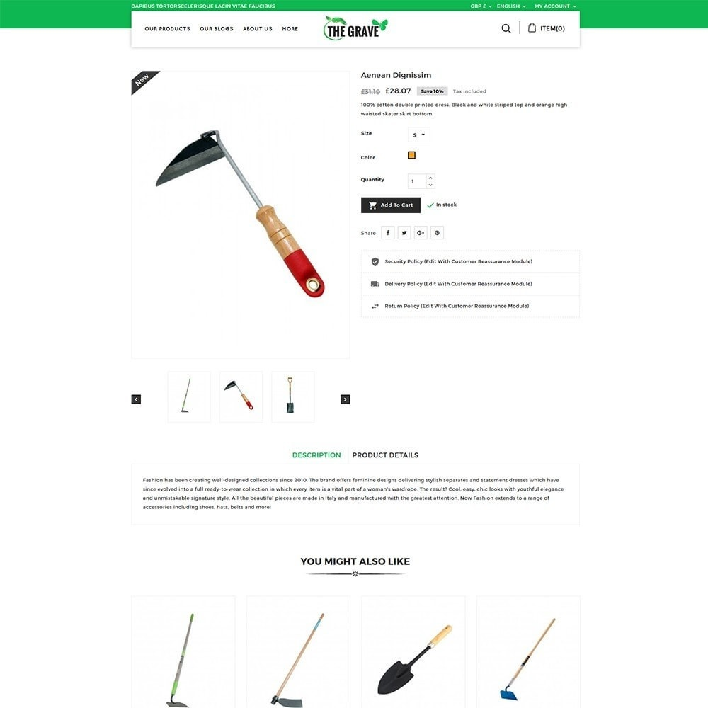 theme - Casa & Jardins - The Grave Gardening Tools - 6