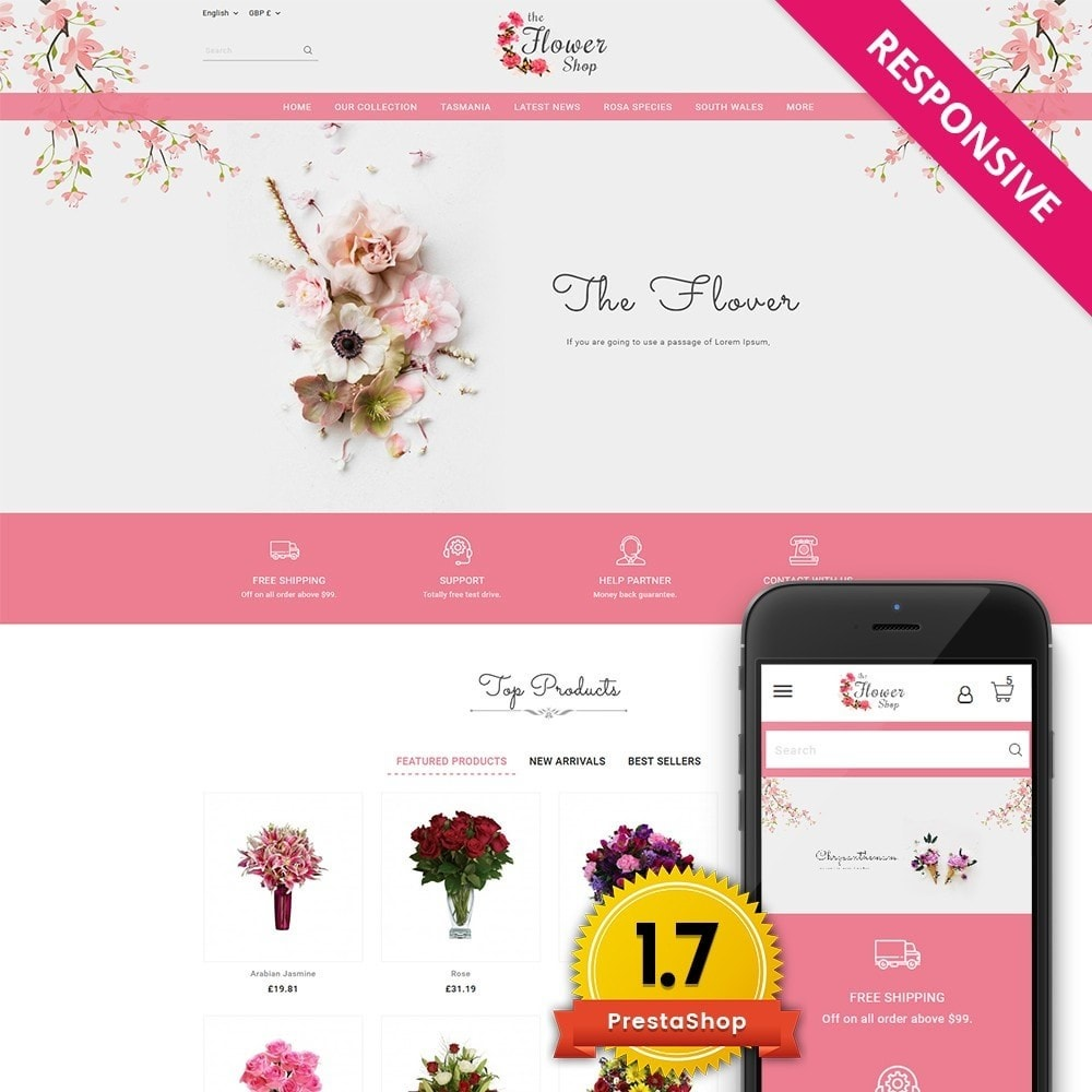 theme - Regali, Fiori & Feste - The Flower Shop - 1