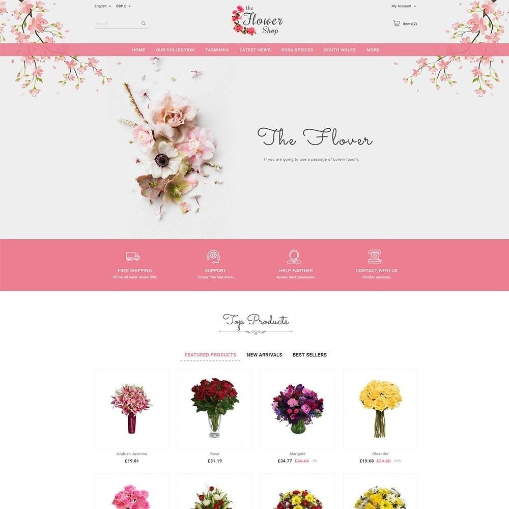 theme - Regalos, Flores y Celebraciones - The Flower Shop - 2