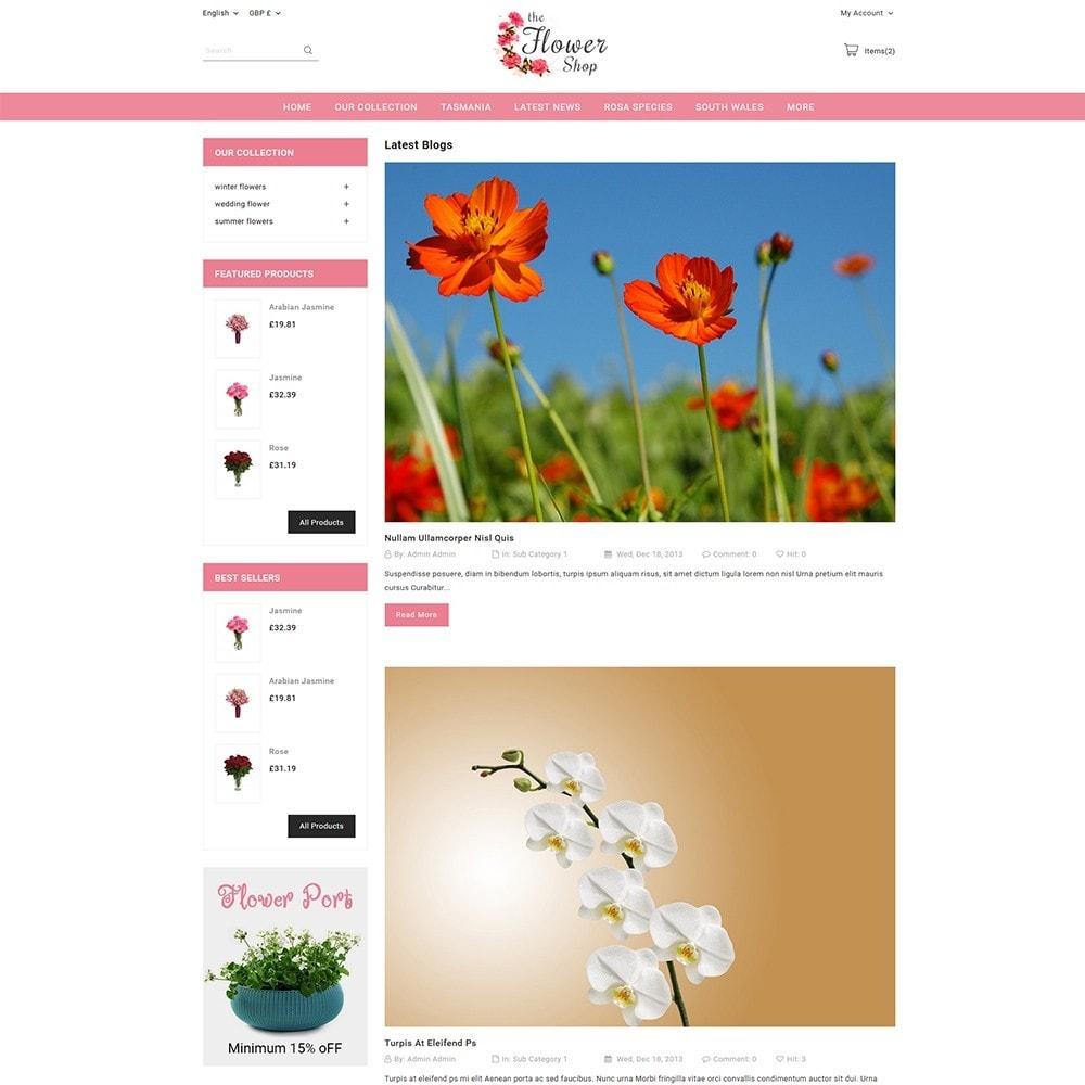 theme - Regalos, Flores y Celebraciones - The Flower Shop - 5