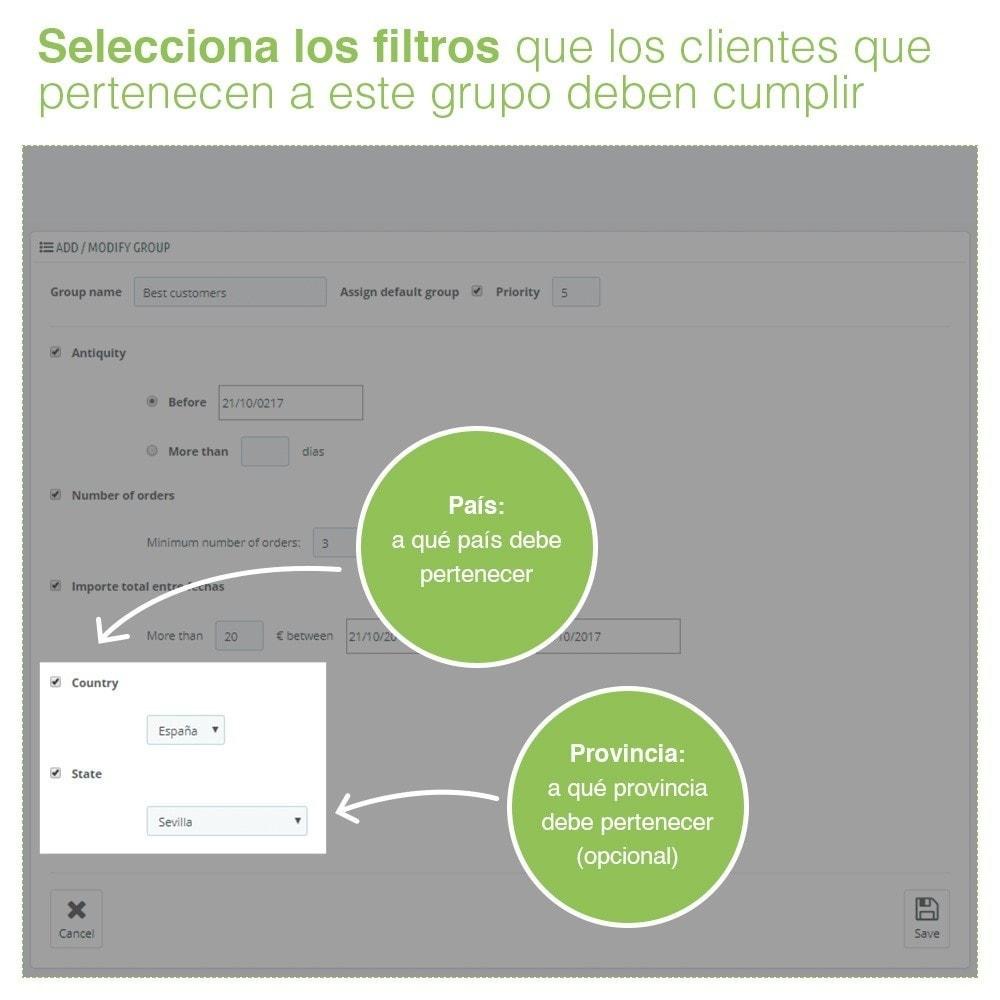 module - Gestión de clientes - Gestión Avanzada de Grupo de Clientes – Edición Masiva - 6