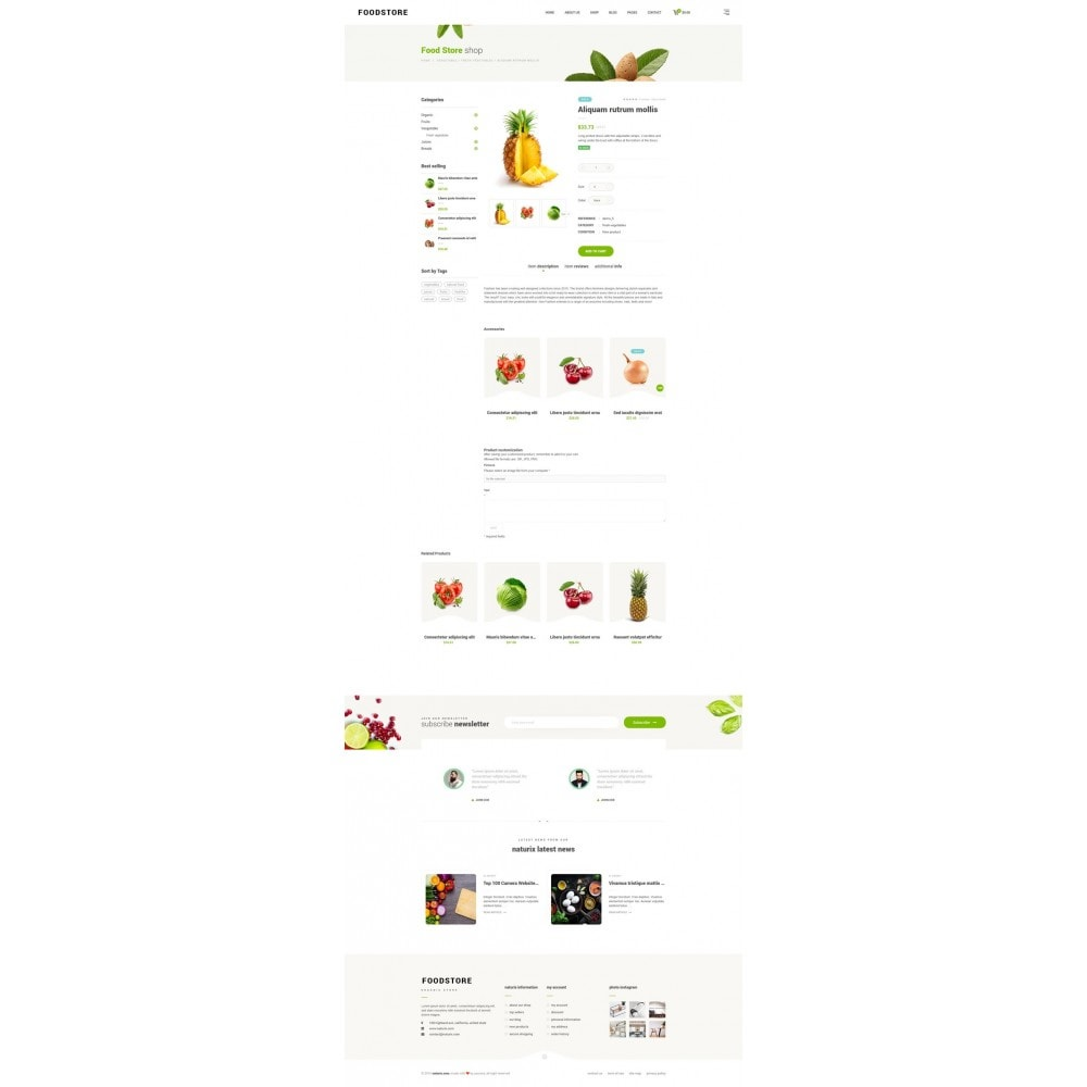 theme - Alimentation & Restauration - FoodStore - 9