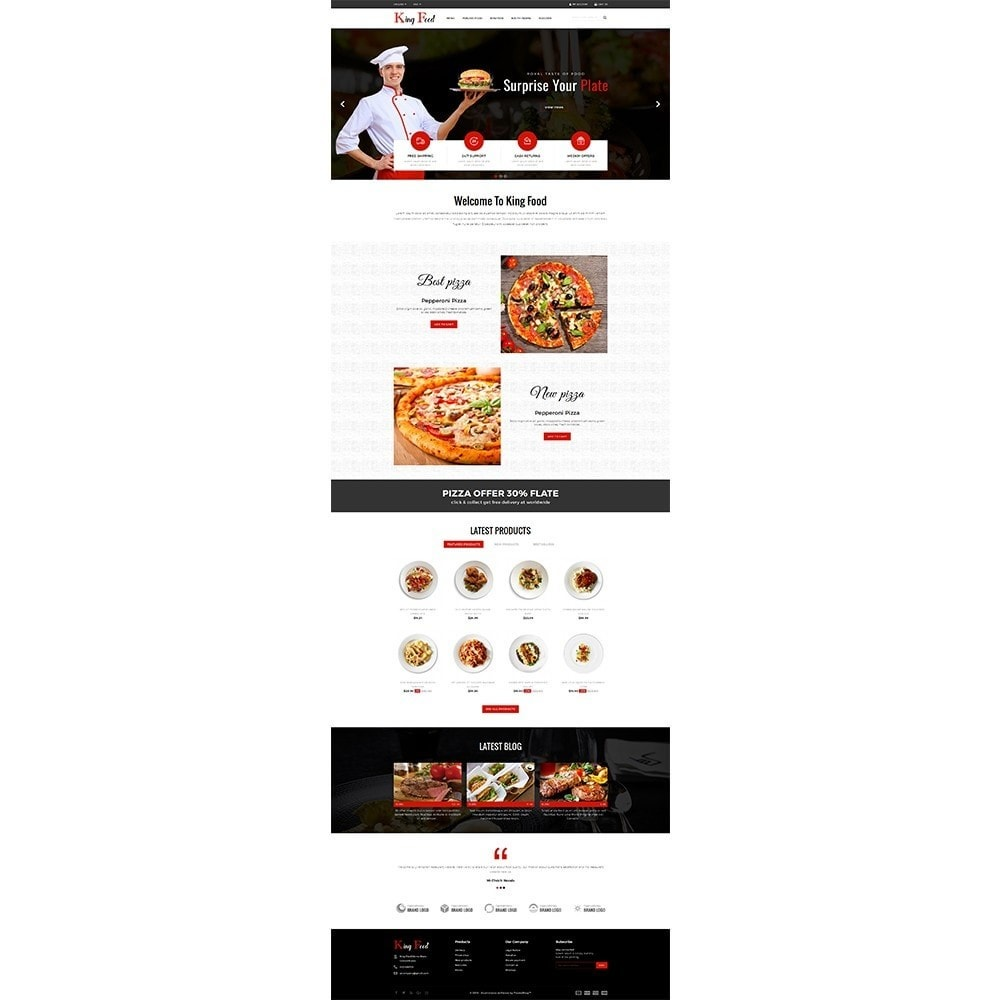 theme - Food & Restaurant - King Food Store - 2
