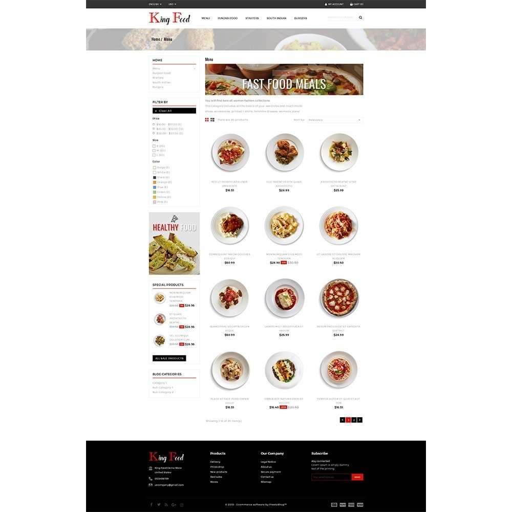 theme - Food & Restaurant - King Food Store - 3