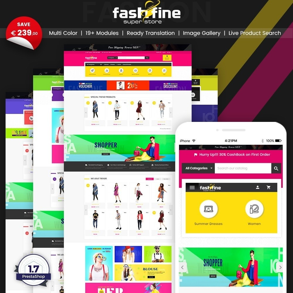 theme - Мода и обувь - FashFine–Fashion and LifeStyle Accessories Super Store - 1