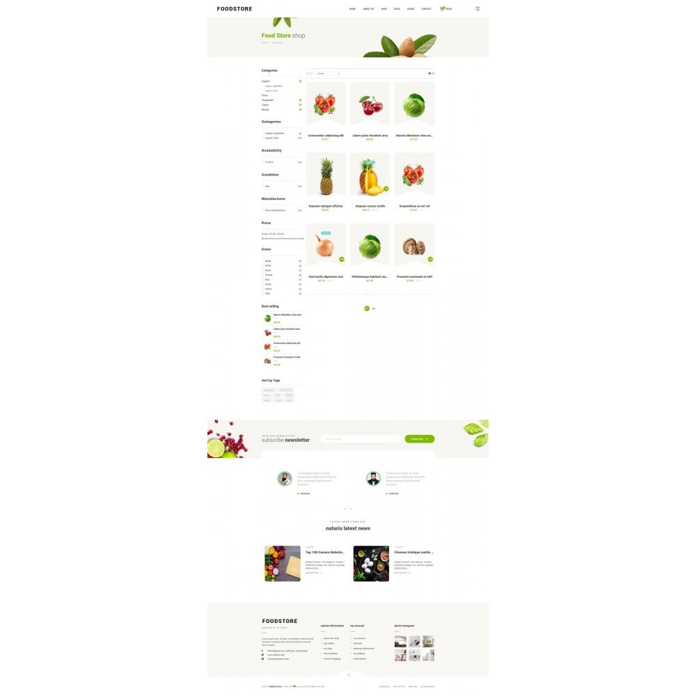 theme - Alimentation & Restauration - FoodStore II - 8