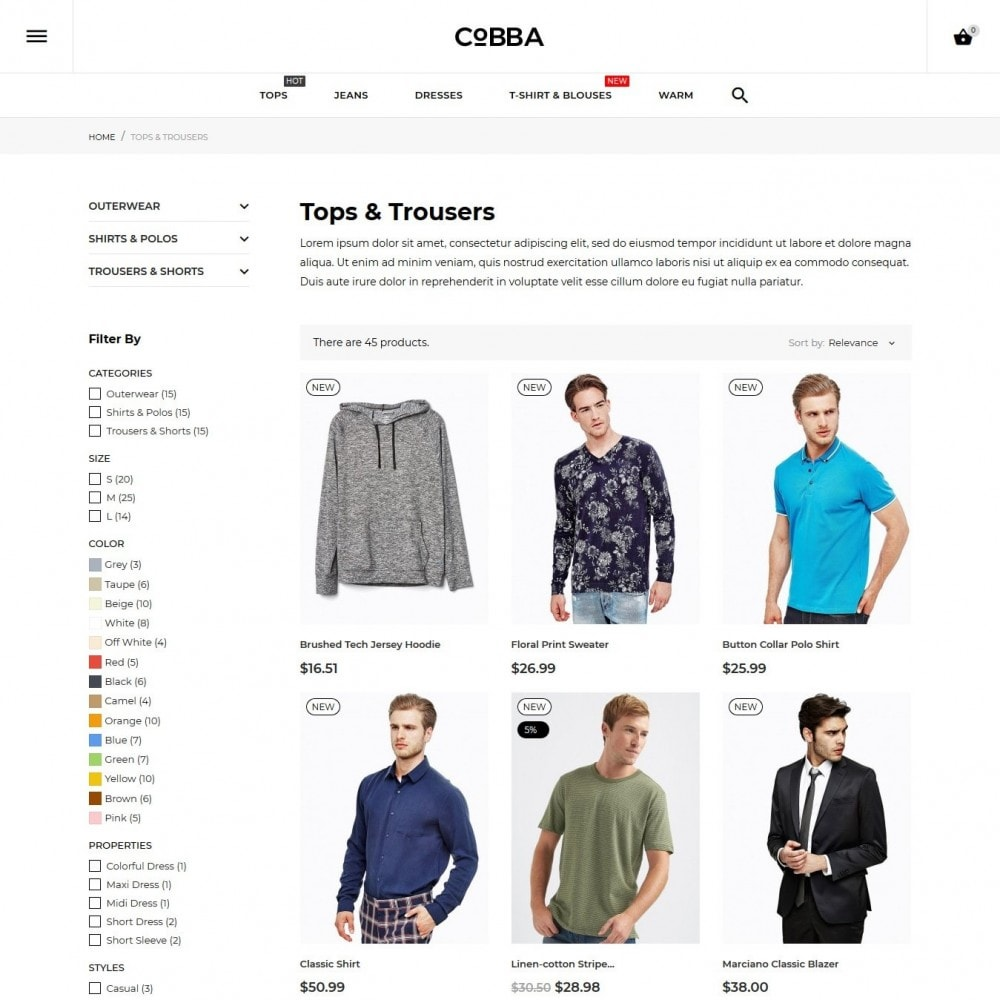 theme - Fashion & Shoes - Cobba Men's Wear - 8