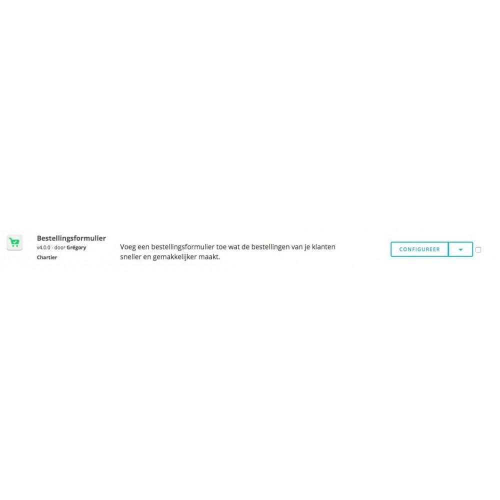 module - Registratie en Proces van bestellingen - Bestellingsformulier - 8