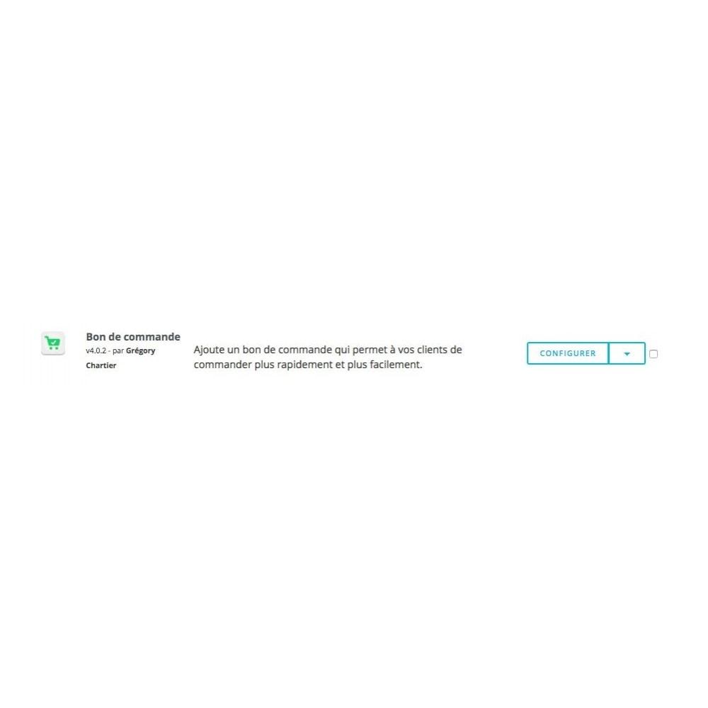 module - Inscription & Processus de commande - Bon de commande - 8
