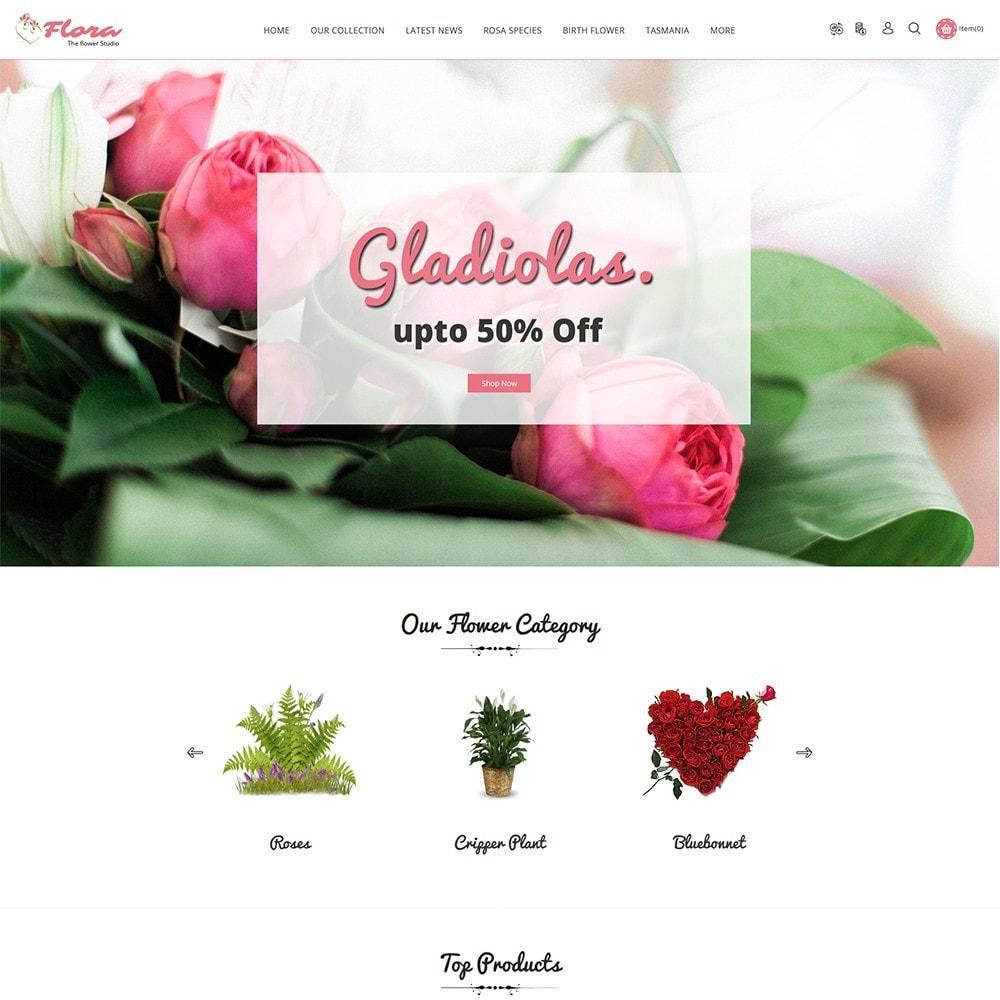 theme - Presentes, Flores & Comemorações - Flora Flower Shop - 2