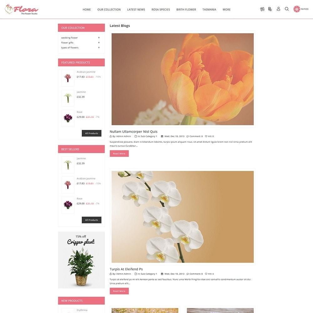 theme - Presentes, Flores & Comemorações - Flora Flower Shop - 7